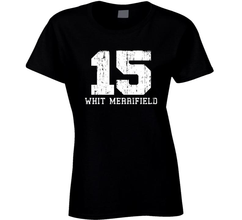 Whit Merrifield # 15 Kansas City Baseball Fan Worn Look Ladies T Shirt