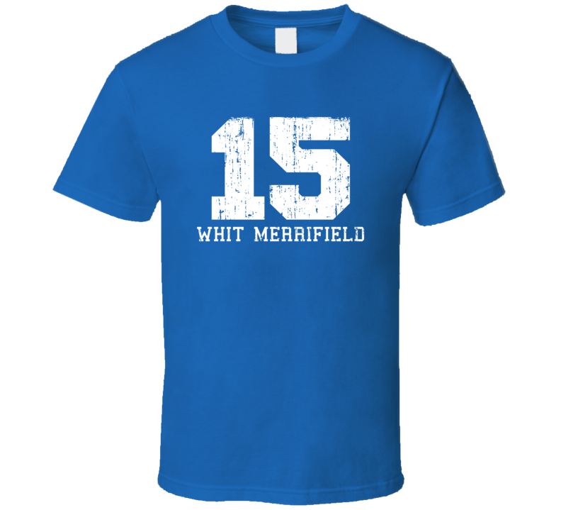 Whit Merrifield # 15 Kansas City Baseball Fan Worn Look Sports T Shirt
