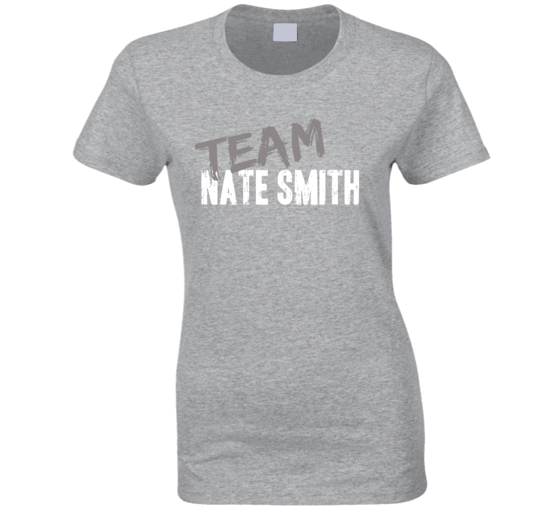 Team Nate Smith Baseball Player Fan Worn Look Sports Ladies T Shirt