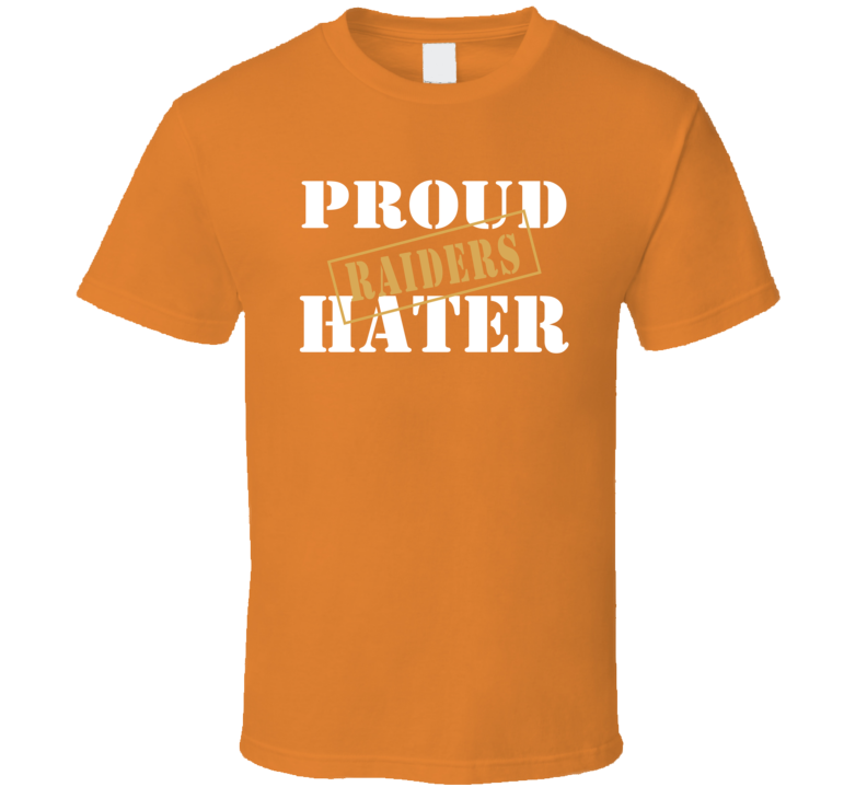 Proud Raiders Hater Cleveland Football Sports Fan Funny T Shirt