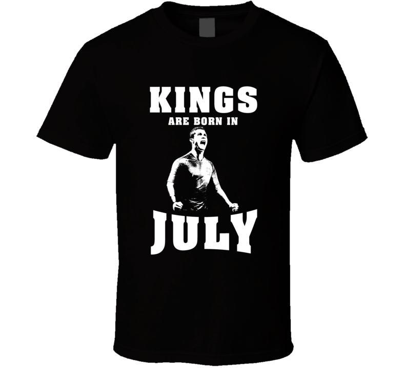 Kings Are Born In July Cristiano Ronaldo Real Madrid Fan Cool T Shirt