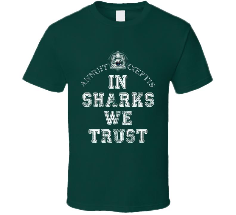 In Sharks We Trust San Jose Hockey Fan Sports Worn Look T Shirt