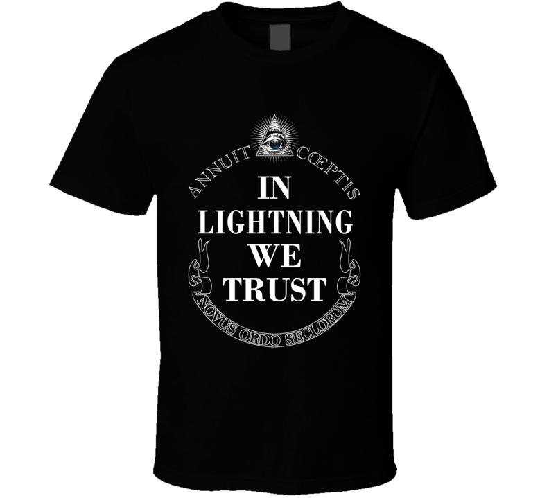 In Lightning We Trust Tampa Bay Hockey Fan Sports T Shirt