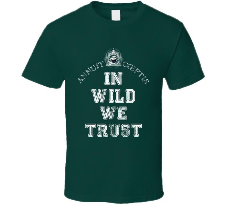 In Wild We Trust Minnesota Hockey Fan Sports Worn Look T Shirt