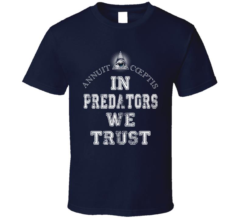 In Predators We Trust Nashville Hockey Fan Sports Worn Look T Shirt