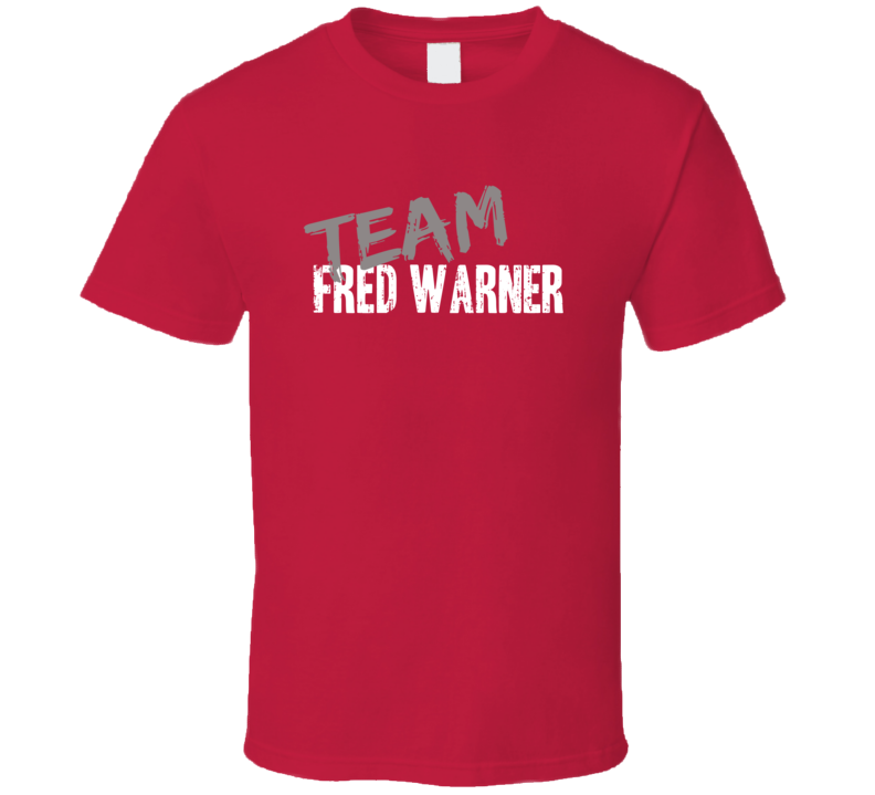 Team Fred Warner San Francisco Football Sports Fan T Shirt
