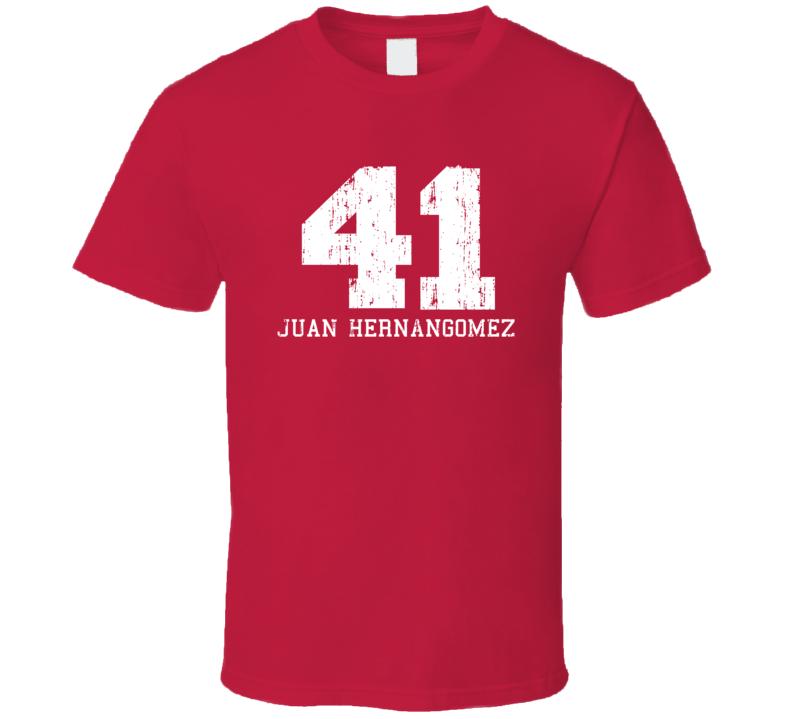 Juan Hernangomez No.41 Denver Basketball Fan Worn Look Sports T Shirt