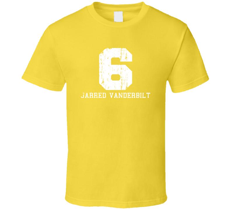 Jarred Vanderbilt No.6 Denver Basketball Fan Worn Look Sports T Shirt