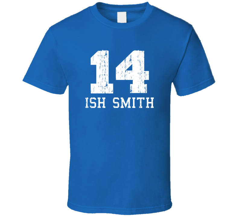 Ish Smith No.14 Detroit Basketball Fan Worn Look Sports T Shirt