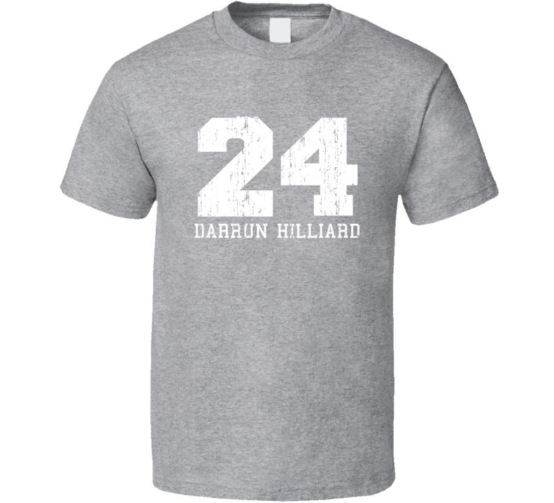 Darrun Hilliard No.24 San Antonio Basketball Fan Worn Look Sports T Shirt