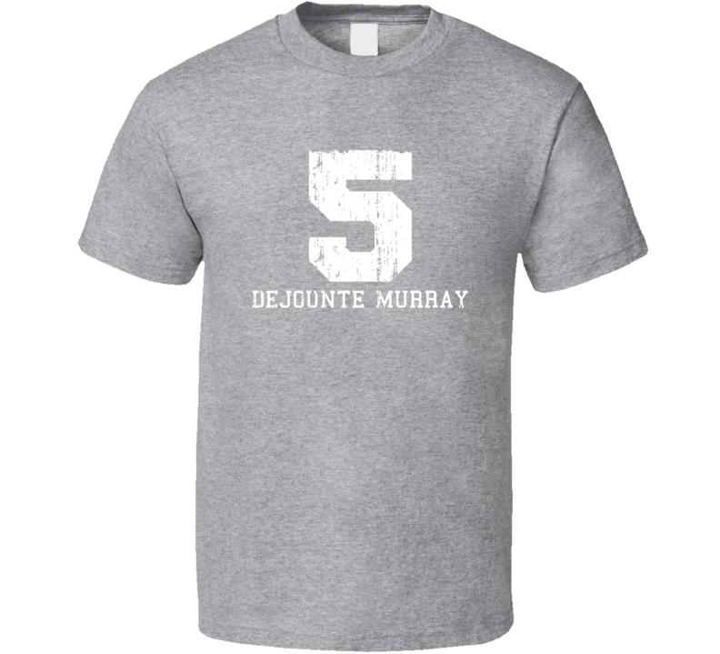 Dejounte Murray No.5 San Antonio Basketball Fan Worn Look Sports T Shirt