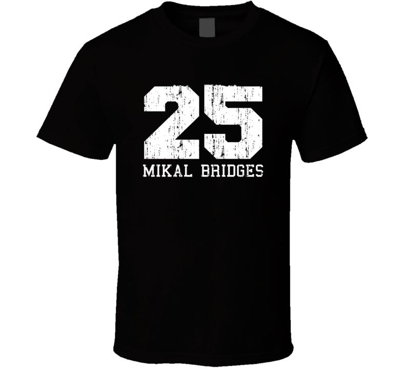 Mikal Bridges No.25 Phoenix Basketball Fan Worn Look Sports T Shirt