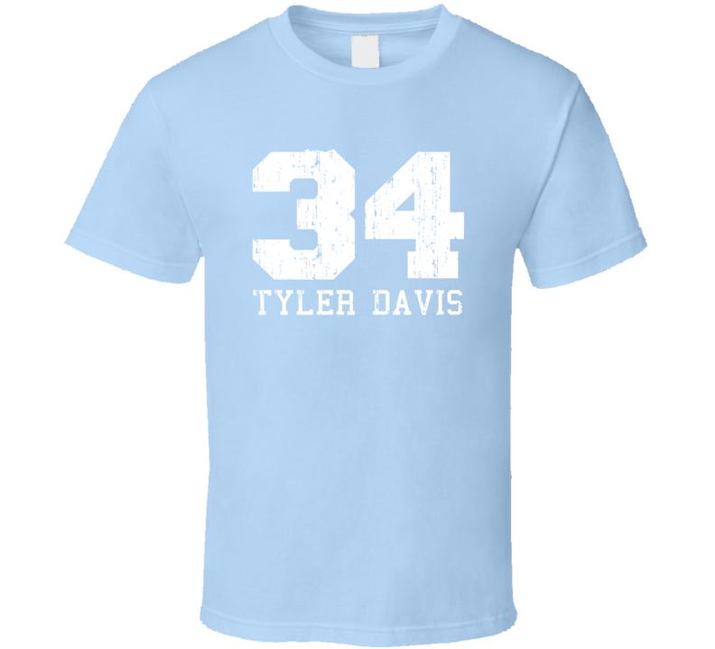 Tyler Davis No.34 Oklahoma Basketball Fan Worn Look Sports T Shirt