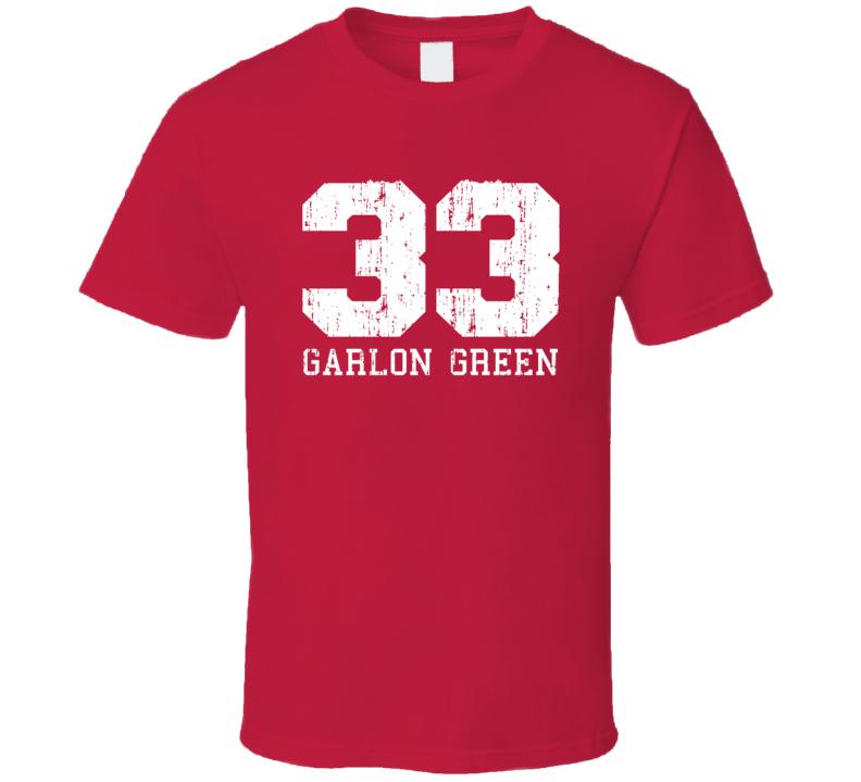 Garlon Green No.33 New Orleans Basketball Fan Worn Look Sports T Shirt