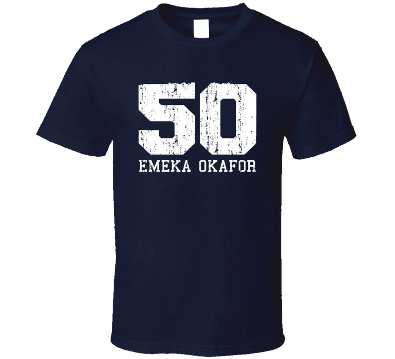 Emeka Okafor No.50 New Orleans Basketball Fan Worn Look Sports T Shirt