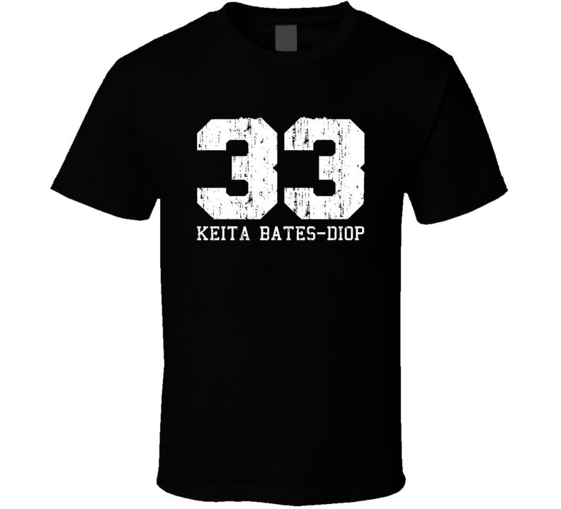 Keita Bates-Diop No.33 Minnesota Basketball Fan Worn Look Sports T Shirt
