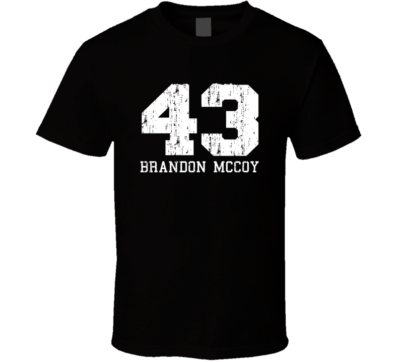 Brandon McCoy No.43 Milwaukee Basketball Fan Worn Look Sports T Shirt