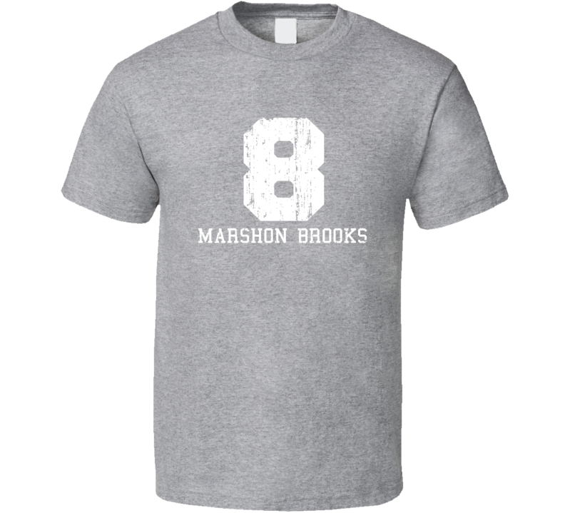 MarShon Brooks No.8 Memphis Basketball Fan Worn Look Sports T Shirt