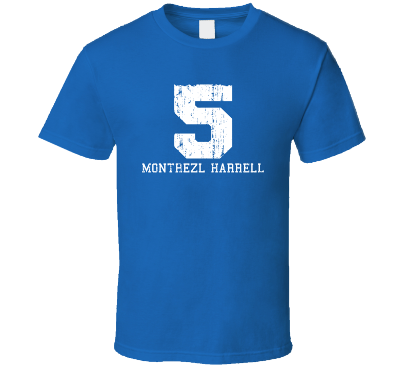 Montrezl Harrell No.5 Los Angeles Basketball Fan Worn Look Sports T Shirt