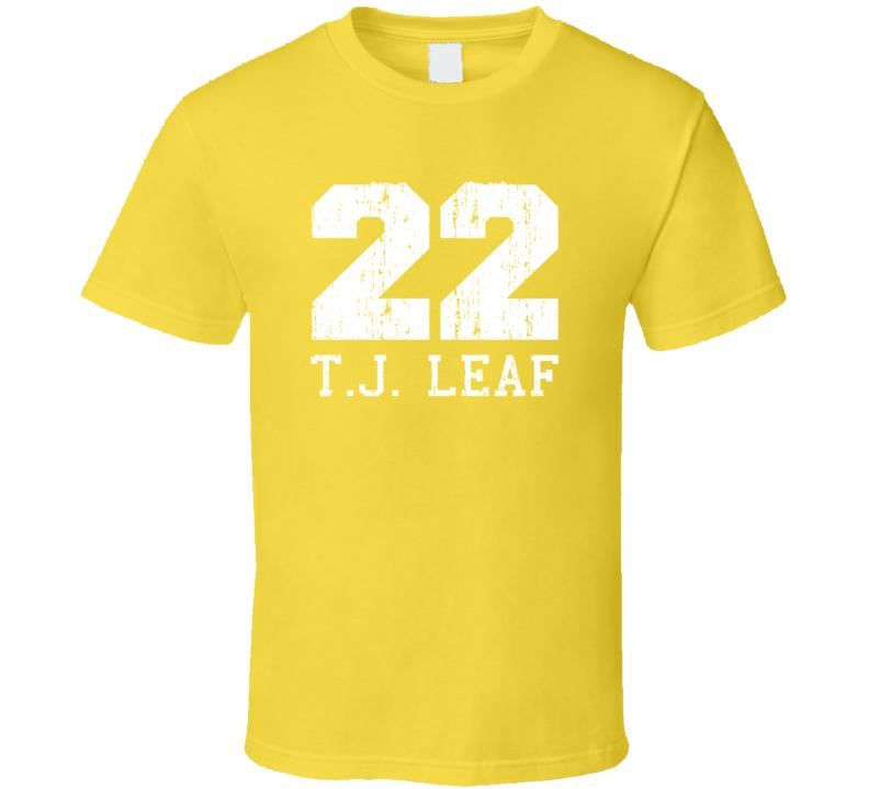 T.J. Leaf No.22 Indiana Basketball Fan Worn Look Sports T Shirt