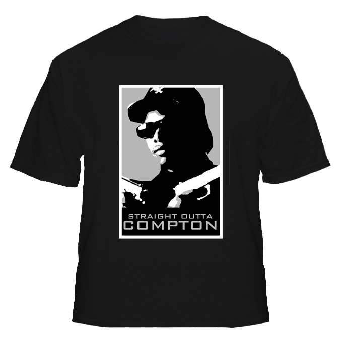 Eazy E Straigh Outta Compton Hip Hop Rap T Shirt