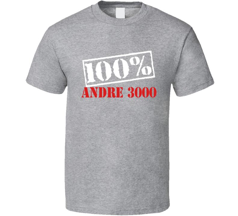 Outkast Andre 3000 100 Percent Rap Hip Hop T Shirt