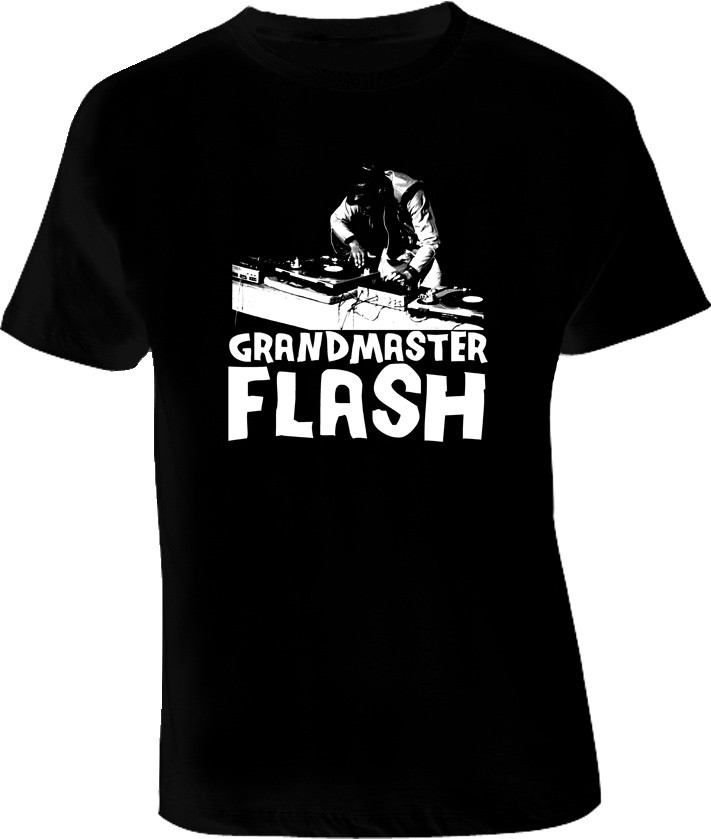 Grandmaster Flash Hip Hop Rap T Shirt