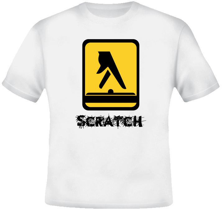 Scratch DJ Hip Hop Rap T Shirt