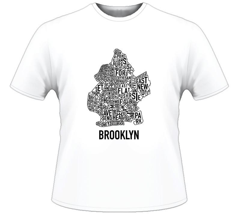 Brooklyn City Map Hip Hop Rap T Shirt