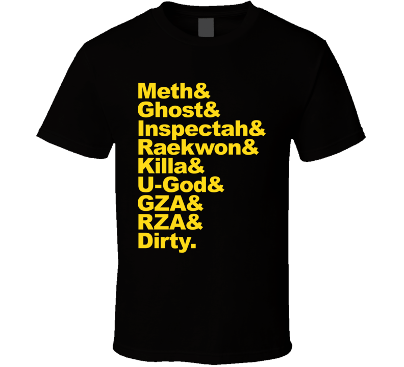 Wu Tang Clan Members Rap T Shirt