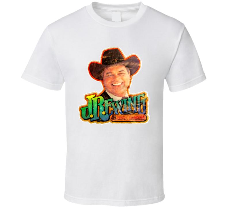 943fb787d JR Ewing Larry Hagman Dallas Tv Show Who Shot JR Retro Classic T ...