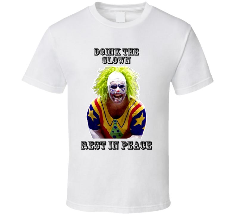 Doink The Clown RIP Wrestling Tribute T Shirt
