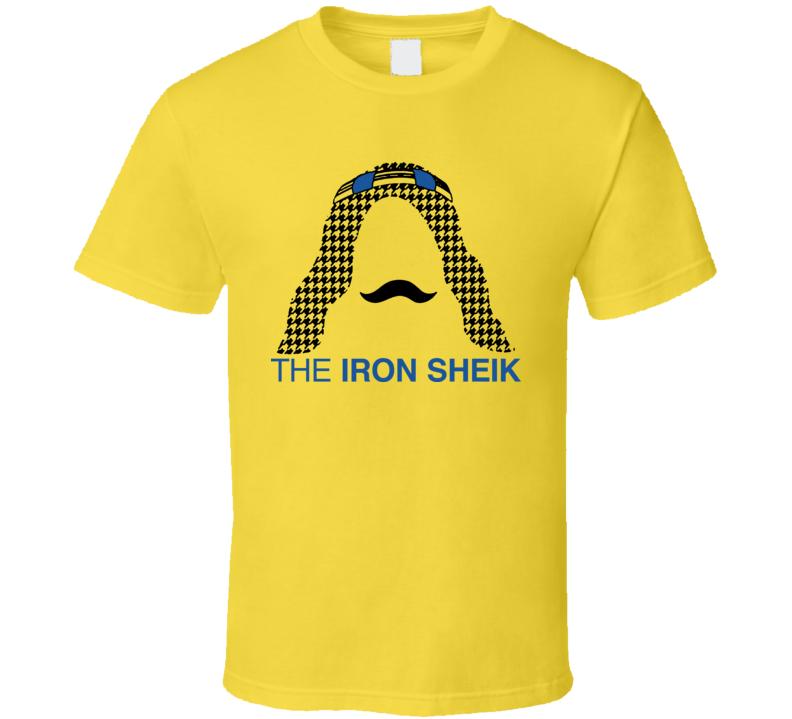 Iron Sheik Wrestling Legend Mustache T Shirt