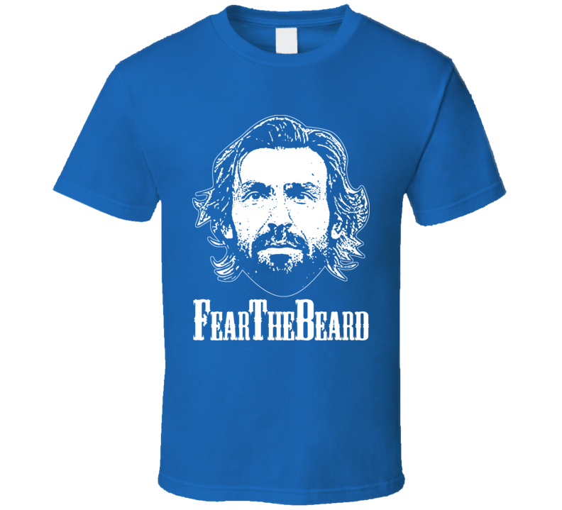 Andrea Pirlo Fear The Beard Italia Italy Azzuri T Shirt