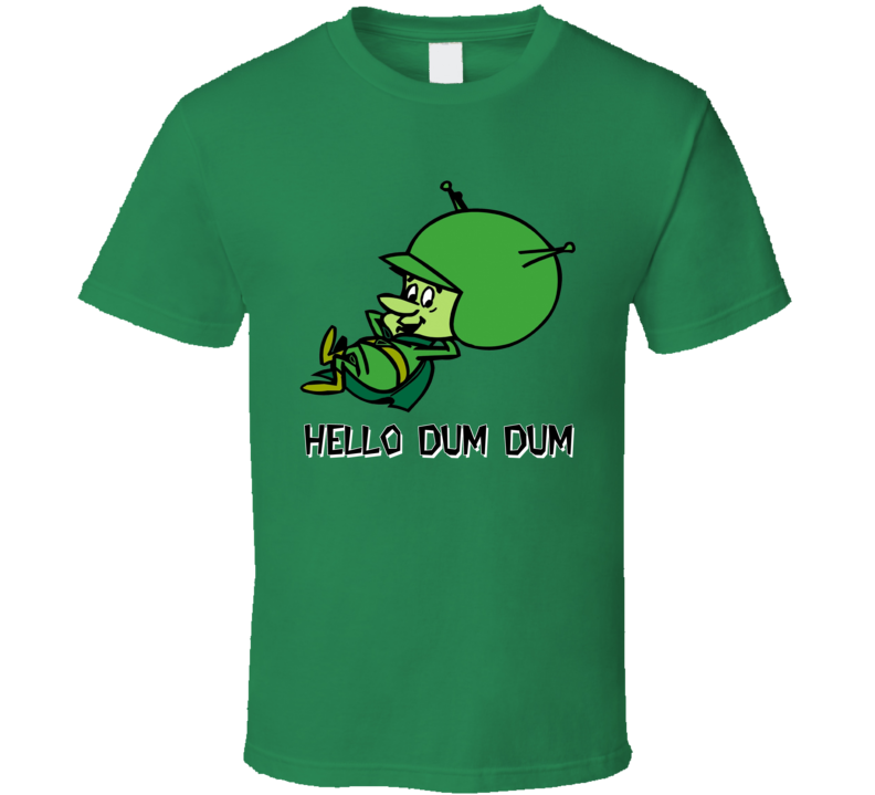 The Great Gazoo Hello Dum Dum Cartoon Flintstones T Shirt