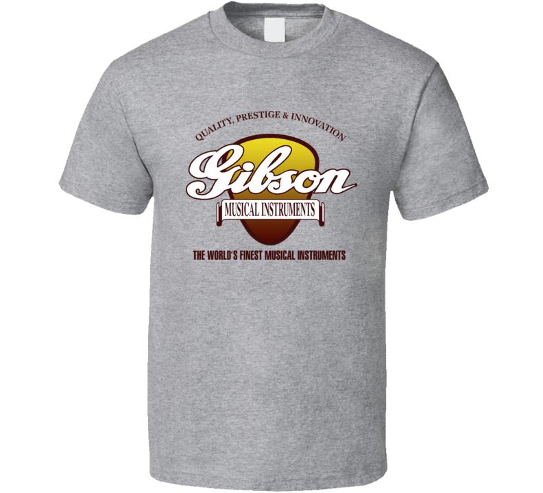Gibson Logo Music Guitars T Shirt