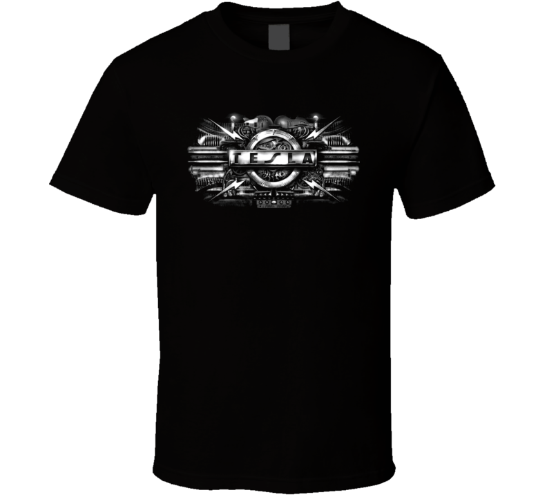 Tesla 80S Retro Rock Music T Shirt