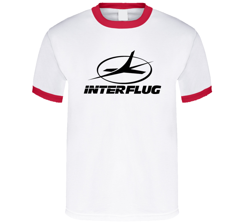 Interflug German Soviet Retro T Shirt