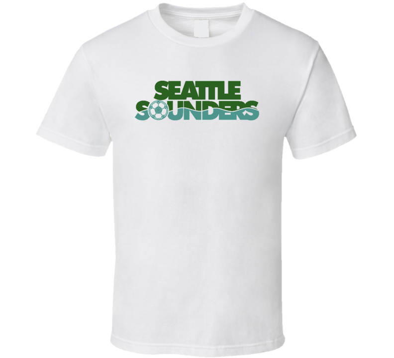 Seattle Sounders Primary Logo Nasl Soccer T Shirt