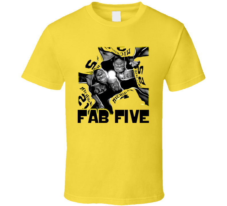 Fab Five Basketball Webber Jalen Rose T Shirt