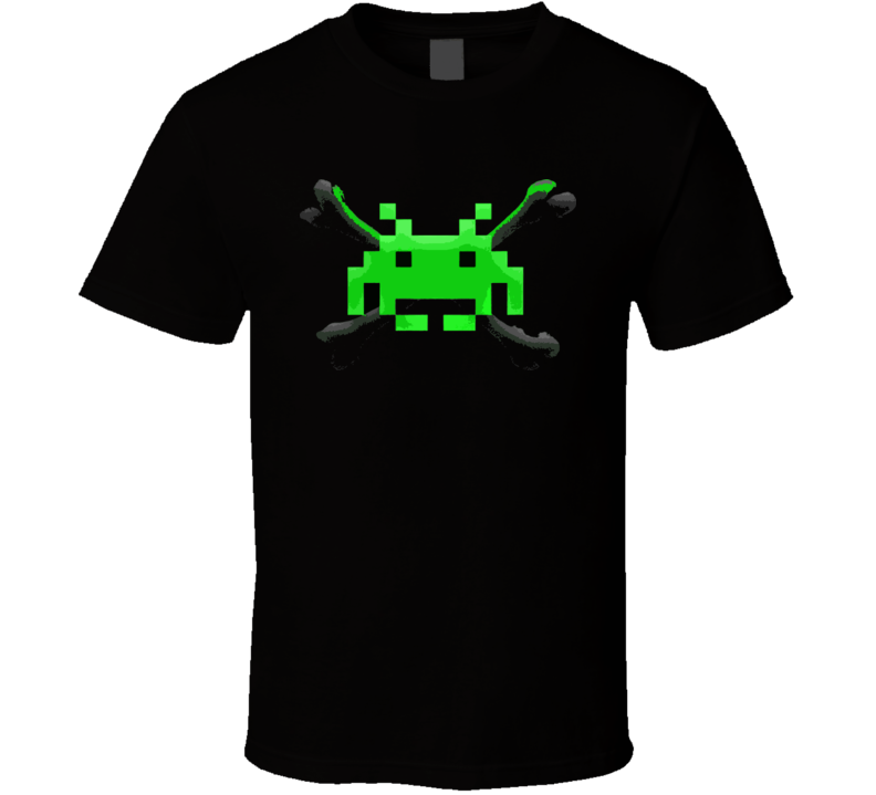 Jolly Invader Space Invaders Retro Video Game T Shirt