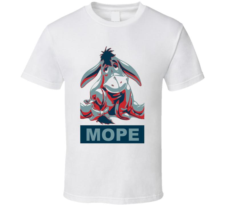 Eeyore Mope Funny Barrack Obama Parody T Shirt