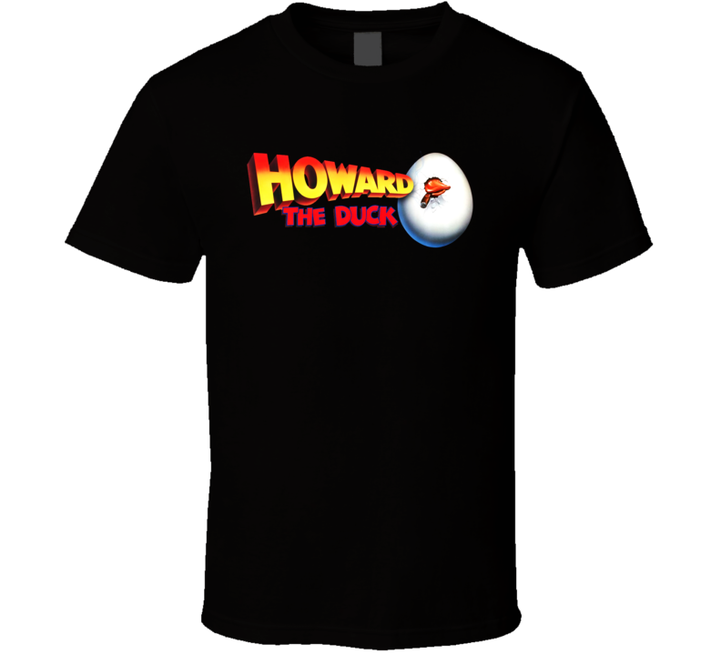 Howard The Duck Movie Retro Black T Shirt