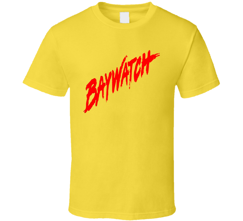 Baywatch Movie TV Show Title Lifeguards Beach T Shirt