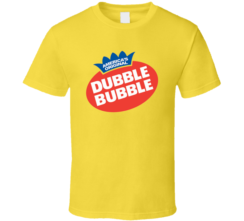 Dubble Bubble Chewing Gum Candy Junk Food Snack T Shirt