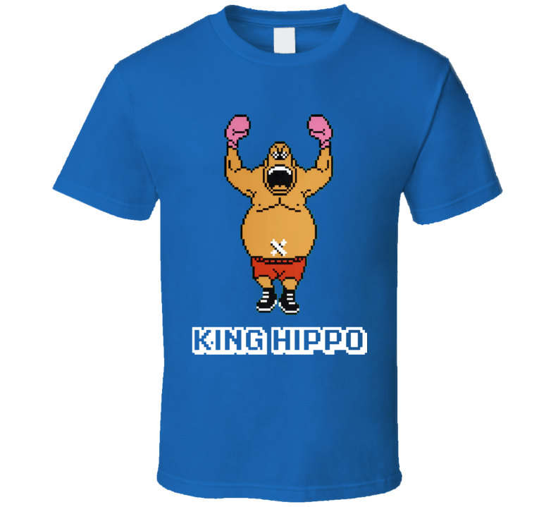King Hippo Mike Tyson's Punch Out NES Video Game 80s T Shirt