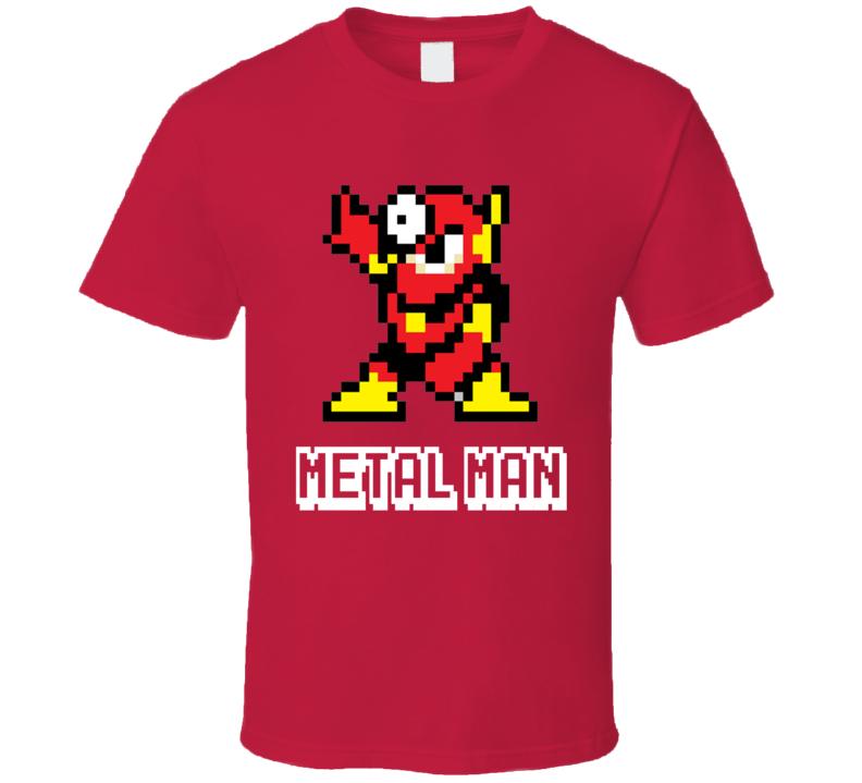 Metal Man Mega Man 2 Robot Enemy NES Video Game T Shirt