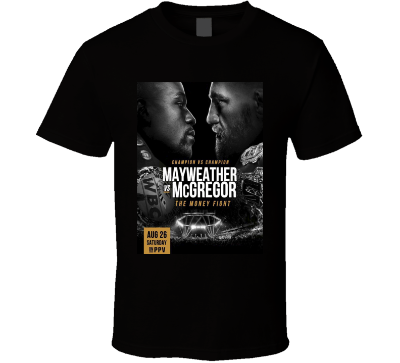 Connor McGregor Vs Mayweather Boxing Fight Match Event Poster T Shirt