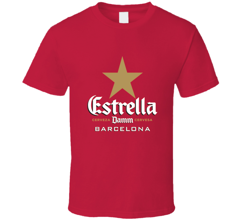 Estrella Beer Damm Barcelona Alcohol Drink T Shirt