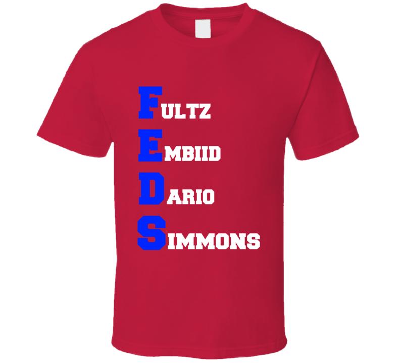 Feds Philadelphia Basketball Fultz Embiid Dario Simmons T Shirt